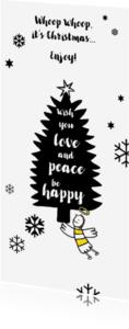 Kerstkaarten - Grappige kerstkaart met engeltje