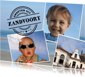 Vakantiekaarten - Groeten uit - fotocollage kaart