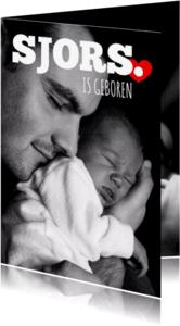 Geboortekaartjes - Grote zwartwit foto -isf