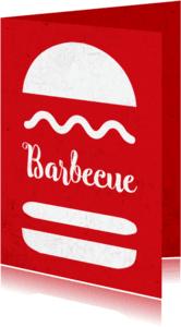 Uitnodigingen - Hamburger grunge bbq - DH
