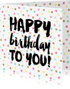 Verjaardagskaarten - Happy Birthday Confetti