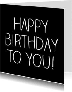 Verjaardagskaarten - Happy Birthday, handschrift