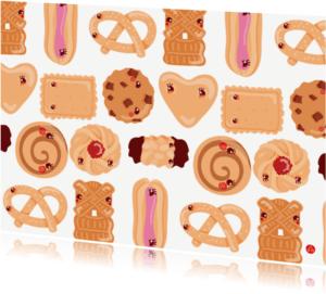 Verjaardagskaarten - Happy cookies