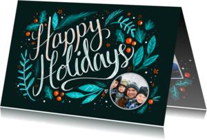 Kerstkaarten - Happy Holidays met foto
