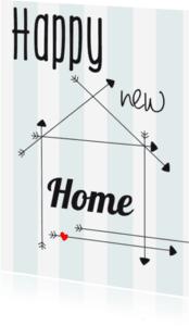 Verhuiskaarten - Happy new Home