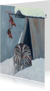 Nieuwjaarskaarten - Happy New Year Owl