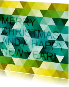 Kerstkaarten - happy new year triangle