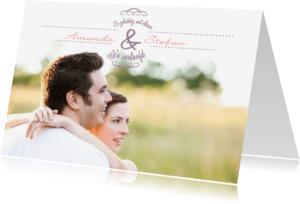 Trouwkaarten - Happyfoto naamkaart voor samen
