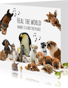 Beterschapskaarten - Heal the world dierenkaart-isf