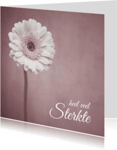 Condoleancekaarten - Heel veel Sterkte - Bloem