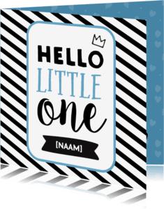 Felicitatiekaarten - Hello Little One - jongetje geboren