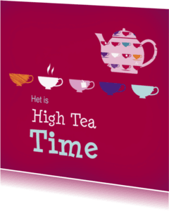 Uitnodigingen - High tea kopjes 2