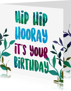 Verjaardagskaarten - Hiphip hooray birthday