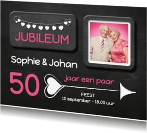 Jubileumkaarten - Hippe uitnodiging Jubileum - SG