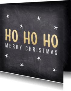 Zakelijke kerstkaarten - Ho Ho Ho krijtbord - DH
