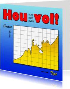 Coachingskaarten - Hou vol, met grafiek