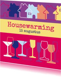 Uitnodigingen - Housewarming glazen M