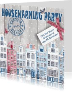 Uitnodigingen - Housewarming Party Huisjes Feest