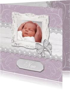 Geboortekaartjes - Hout met Label geboorte - BK