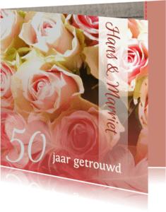 Uitnodigingen - Hout rozen en veer jubileum