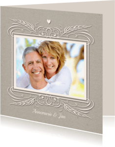 Jubileumkaarten - Huwelijksjubileum 25 jaar - SG