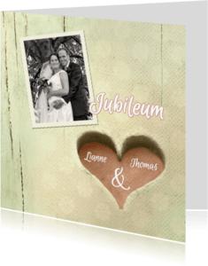 Jubileumkaarten - Huwelijksjubileum hart 25 jaar - SG