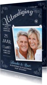 Jubileumkaarten - Huwelijksjubileum Schoolbord 2