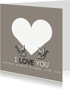 Liefde kaarten - I love you different languages