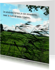 Spreukenkaarten - Inspiratiekaart Windrichting