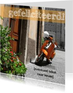Geslaagd kaarten - italiaanse brommer