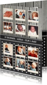Kinderfeestjes - Jaarkaart 12 Maanden Ster Hout