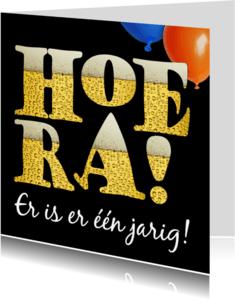 Verjaardagskaarten - Jarig, bier en ballonnen  - AZ