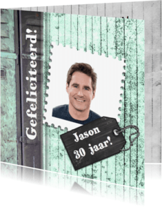 Verjaardagskaarten - Jarig stoer hip en trendy man