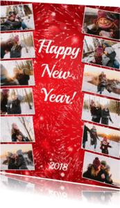 Nieuwjaarskaarten - Jouw eigen jaar collage - BK