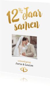 Jubileumkaarten - Jubileum 12 1/2 jaar samen goud - BK