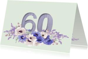 Jubileumkaarten - Jubileum anemonen 60 jaar