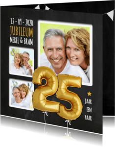 Jubileumkaarten - Jubileum ballon goud 25 - SG