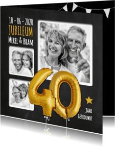 Jubileumkaarten - Jubileum ballon goud 40 - SG