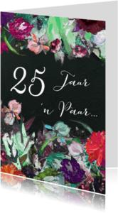 Jubileumkaarten - Jubileum Getal - kunst bloemen
