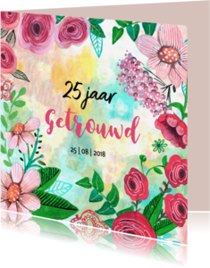 Uitnodigingen - Jubileum Getrouwd 25 jaar