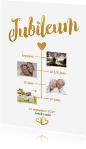 Jubileumkaarten - Jubileum goud - BK