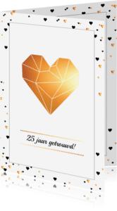 Jubileumkaarten - Jubileum - Harten in goud