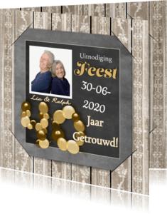 Jubileumkaarten - Jubileum krijtbord en hout 40