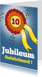 Jubileumkaarten - Jubileum - rozet
