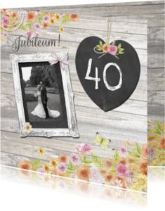 Jubileumkaarten - jubileum veertig jaar hart