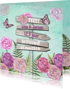 Jubileumkaarten - Jubileum wegwijzer