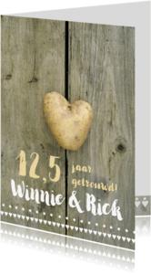 Jubileumkaarten - Jubileumkaart 12,5 jaar getrouwd