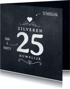Jubileumkaarten - Jubileumkaart 25 jaar krijtbord