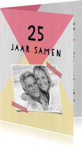 Jubileumkaarten - Jubileumkaart 25 jaar samen geometrisch - DH