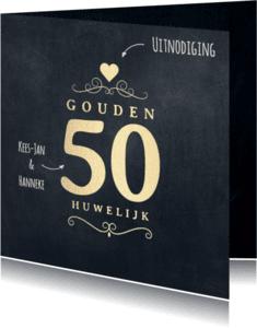 Jubileumkaarten - Jubileumkaart 50 jaar krijtbord